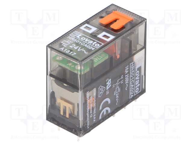 HR501CA024_Relay: electromagnetic; SPDT; Ucoil:24VAC; 16A/250VAC; 12A/30VDC