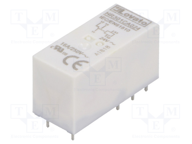 HR301CA024_Relay: electromagnetic; SPDT; Ucoil:24VAC; 16A/250VAC; 12A/30VDC