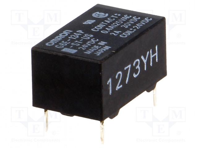 G6E-134P-ST-US 24VDC_Relay: electromagnetic; SPDT; Ucoil:24VDC; 0.4A/125VAC; 2A/30VDC
