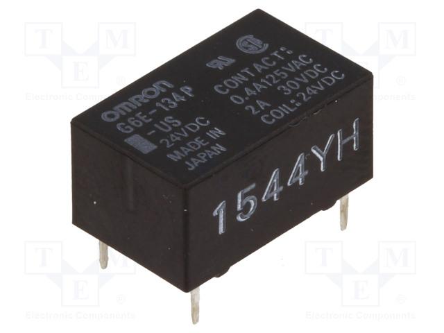G6E-134P-US 24VDC_Relay: electromagnetic; SPDT; Ucoil:24VDC; 0.4A/125VAC; 2A/30VDC