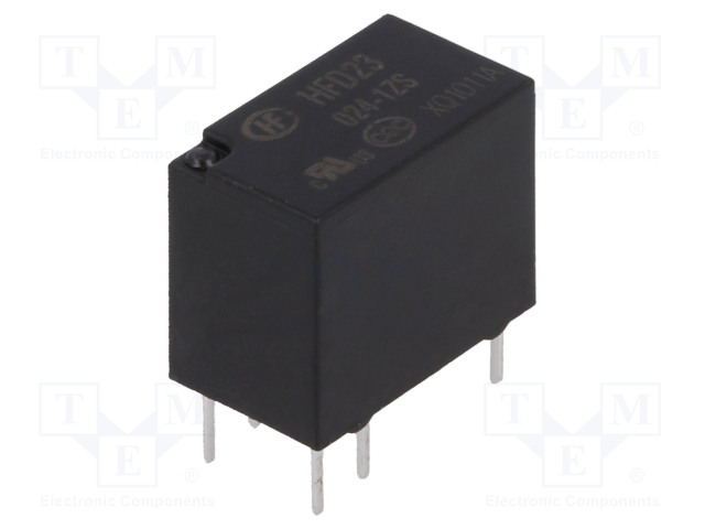 HFD23/024-1ZS_Relay: electromagnetic; SPDT; Ucoil:24VDC; 0.5A/125VAC; 1A/30VDC