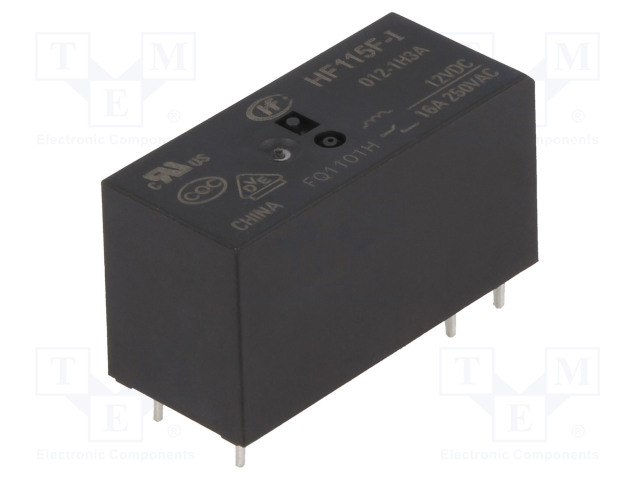 HF115F-H/024-1ZS1A_Relay: electromagnetic; SPDT; Ucoil:24VDC; 10A/250VAC; 10A/24VDC