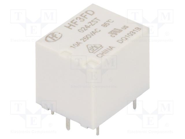HF3FD/024-ZST_Relay: electromagnetic; SPDT; Ucoil:24VDC; 10A/250VAC; 10A/28VDC