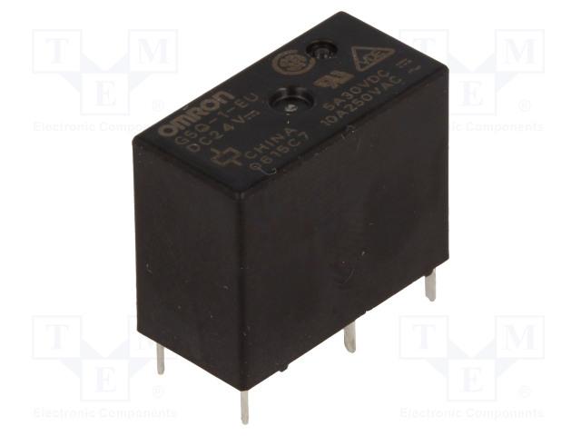 G5Q-1-EU 24VDC_Relay: electromagnetic; SPDT; Ucoil:24VDC; 10A/250VAC; 5A/30VDC