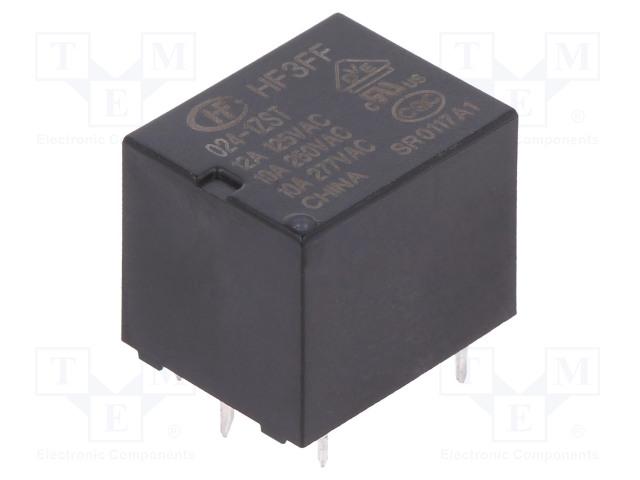 HF3FF/024-1ZST_Relay: electromagnetic; SPDT; Ucoil:24VDC; 10A/277VAC; 10A/28VDC