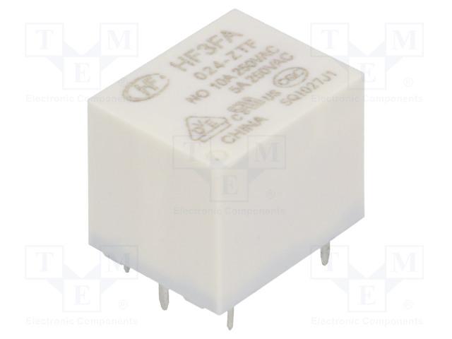 HF3FA/024-ZTF_Relay: electromagnetic; SPDT; Ucoil:24VDC; 10A/277VAC; 10A/28VDC