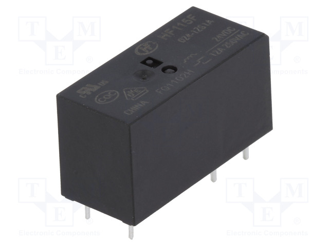 HF115F/024-1ZS1A_Relay: electromagnetic; SPDT; Ucoil:24VDC; 12A/250VAC; 12A/24VDC