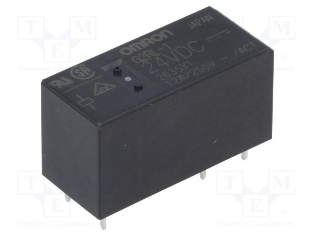 G2RL-1 24VDC_Relay: electromagnetic; SPDT; Ucoil:24VDC; 12A/250VAC; 12A/24VDC