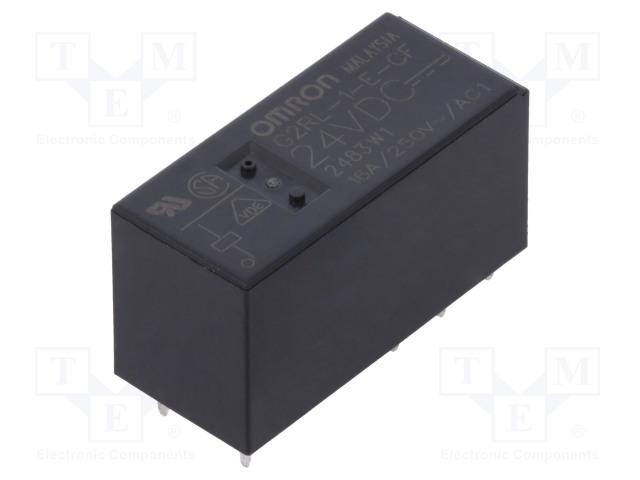 G2RL-1-E-CF 24VDC_Relay: electromagnetic; SPDT; Ucoil:24VDC; 16A/250VAC; 16A/24VDC