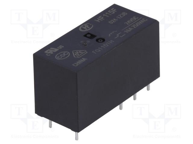 HF115F/024-1Z3B_Relay: electromagnetic; SPDT; Ucoil:24VDC; 16A/250VAC; 16A/24VDC