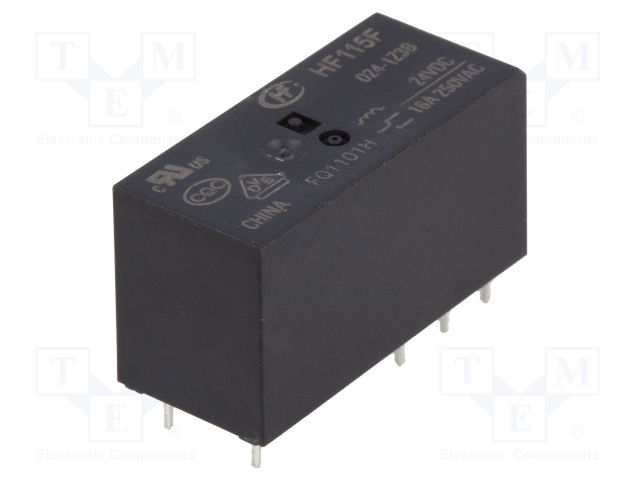HF115F/024-1Z3BF_Relay: electromagnetic; SPDT; Ucoil:24VDC; 16A/250VAC; 16A/24VDC