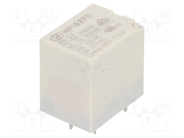 HF152FD/24-1Z_Relay: electromagnetic; SPDT; Ucoil:24VDC; 17A/125VAC; 17A; 360mW