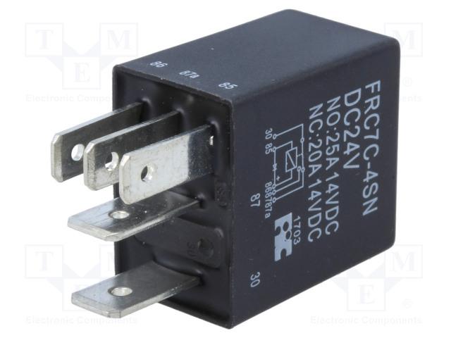 FRC7C-4SN DC24V_Relay: electromagnetic; SPDT; Ucoil:24VDC; 25A; automotive; 1.5W