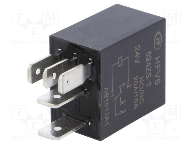 HFV6/024ZS-T_Relay: electromagnetic; SPDT; Ucoil:24VDC; 30A; automotive; 360Ω