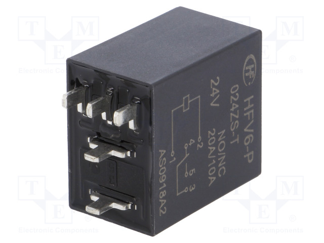 HFV6-P/024ZS-T_Relay: electromagnetic; SPDT; Ucoil:24VDC; 30A; automotive; 360Ω
