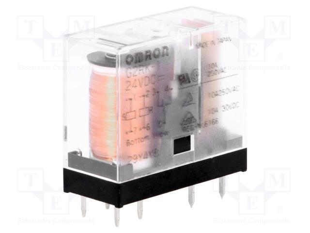 G2RK-1 24VDC_Relay: electromagnetic; SPDT; Ucoil:24VDC; 5A/250VAC; 5A/30VDC
