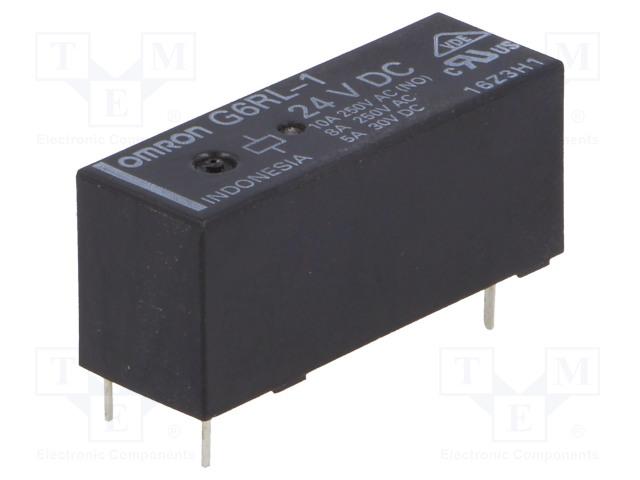 G6RL-1 24VDC_Relay: electromagnetic; SPDT; Ucoil:24VDC; 8A/250VAC; 5A/30VDC