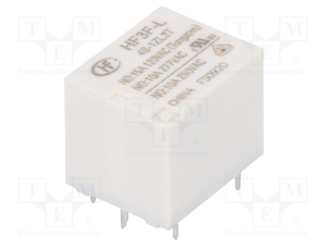 HF3F-L/48-1ZL2T_Relay: electromagnetic; SPDT; Ucoil:48VDC; 10A/277VAC; 10A/30VDC