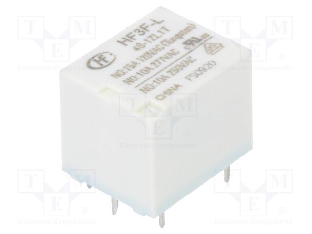 HF3F-L/48-1ZL1T_Relay: electromagnetic; SPDT; Ucoil:48VDC; 10A/277VAC; 10A/30VDC