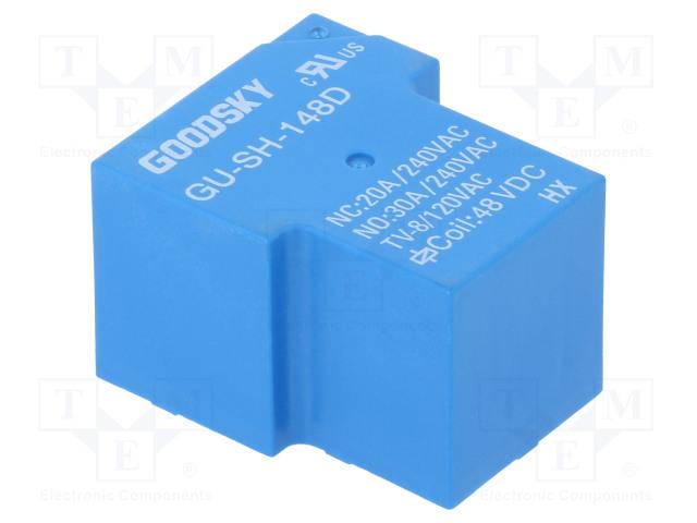 GU-SH-148D_Relay: electromagnetic; SPDT; Ucoil:48VDC; 30A; Series: GU; 930mW