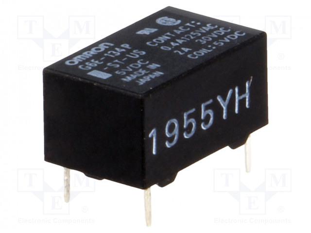 G6E-134P-ST-US 5VDC_Relay: electromagnetic; SPDT; Ucoil:5VDC; 0.4A/125VAC; 2A/30VDC