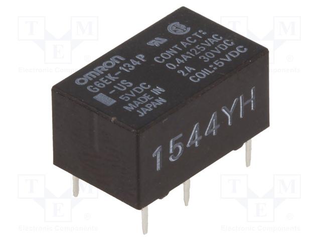 G6EK-134P-US 5VDC_Relay: electromagnetic; SPDT; Ucoil:5VDC; 0.4A/125VAC; 2A/30VDC