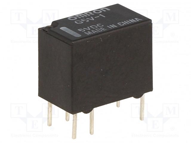 G5V-1 5VDC_Relay: electromagnetic; SPDT; Ucoil:5VDC; 0.5A/125VAC; 1A/24VDC