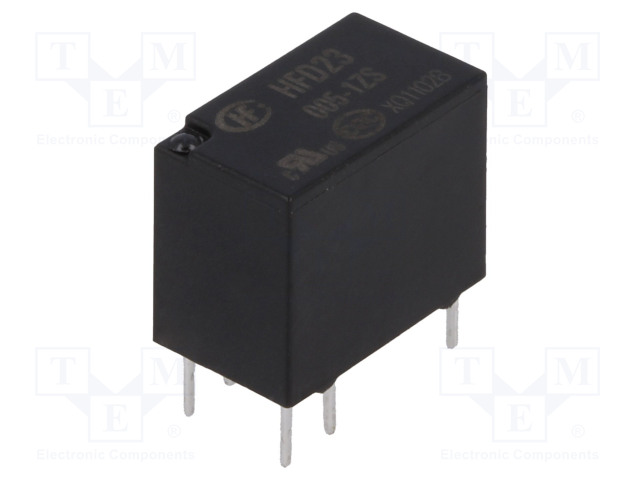 HFD23/005-1ZS_Relay: electromagnetic; SPDT; Ucoil:5VDC; 0.5A/125VAC; 1A/30VDC