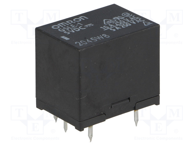 G5LE-1 5VDC_Relay: electromagnetic; SPDT; Ucoil:5VDC; 10A/240VAC; 8A/30VDC