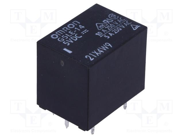 G5LE-14 5VDC_Relay: electromagnetic; SPDT; Ucoil:5VDC; 10A/240VAC; 8A/30VDC