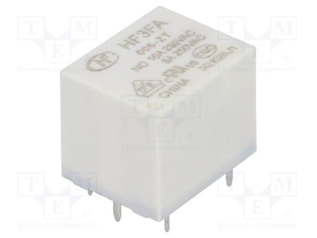 HF3FA/005-ZT_Relay: electromagnetic; SPDT; Ucoil:5VDC; 10A/277VAC; 10A/28VDC