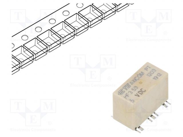 1462051-2_Relay: electromagnetic; SPDT; Ucoil:5VDC; 2A; Mounting: SMT; 178Ω