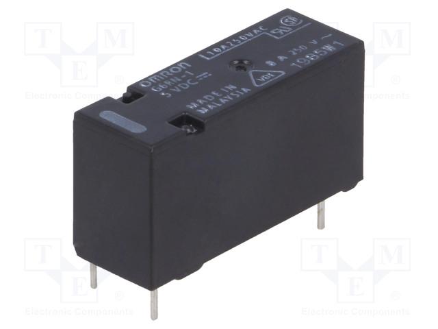 G6RN-1 5VDC_Relay: electromagnetic; SPDT; Ucoil:5VDC; 8A/250VAC; 5A/30VDC