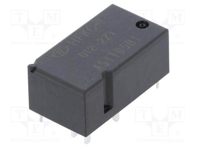 HFKC-T/012-2ZT_Relay: electromagnetic; SPDT x2; Ucoil:12VDC; 30A; Mounting: PCB