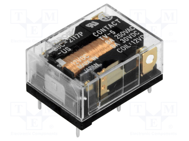 G6C-2117P-US 12VDC_Relay: electromagnetic; SPST-NO + SPST-NC; Ucoil:12VDC; 8A/30VDC