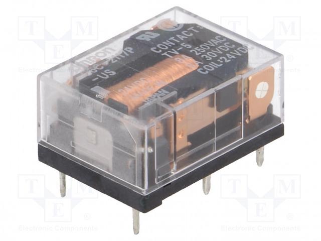 G6C-2117P-US 24VDC_Relay: electromagnetic; SPST-NO + SPST-NC; Ucoil:24VDC; 8A/30VDC