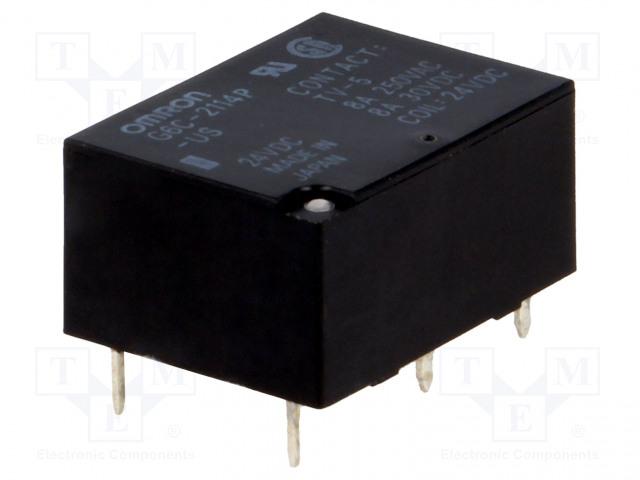 G6C-2114P-US 24VDC_Relay: electromagnetic; SPST-NO + SPST-NC; Ucoil:24VDC; 8A/30VDC