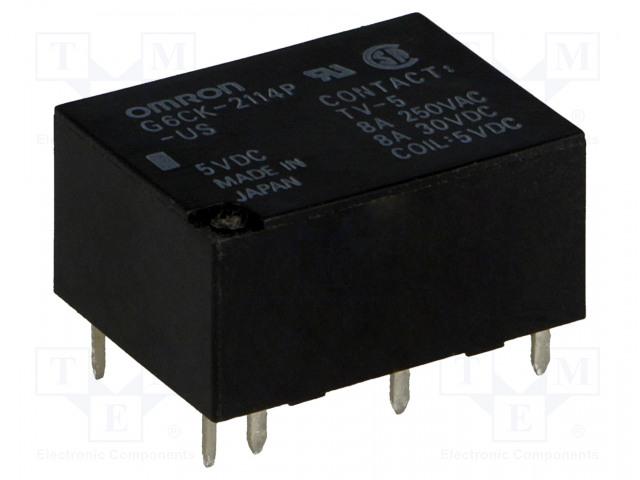 G6CK-2114P-US 5VDC_Relay: electromagnetic; SPST-NO + SPST-NC; Ucoil:5VDC; 8A/250VAC