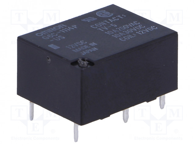 G6C-1114P-US 12VDC_Relay: electromagnetic; SPST-NO; Ucoil:12VDC; 10A/250VAC