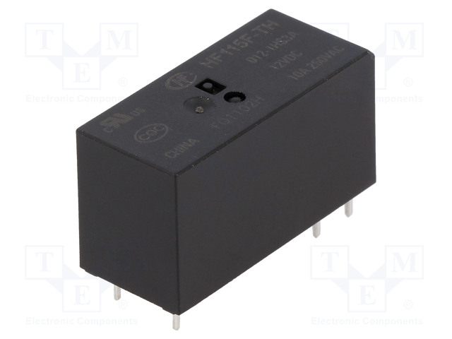 HF115F-TH/012-1HS3A_Relay: electromagnetic; SPST-NO; Ucoil:12VDC; 10A/250VAC; 10A