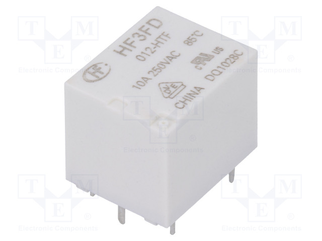 HF3FD/012-HTF_Relay: electromagnetic; SPST-NO; Ucoil:12VDC; 10A/250VAC; 15A