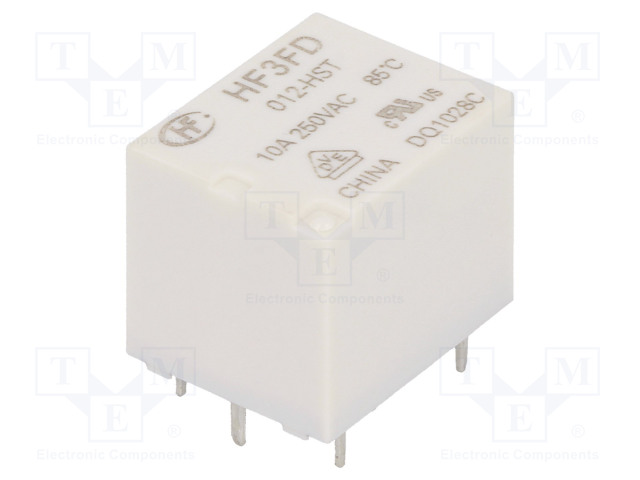 HF3FD/012-HST_Relay: electromagnetic; SPST-NO; Ucoil:12VDC; 10A/250VAC; 15A