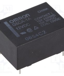 G5CA-1A 12VDC_Relay: electromagnetic; SPST-NO; Ucoil:12VDC; 10A/250VAC; 200mW