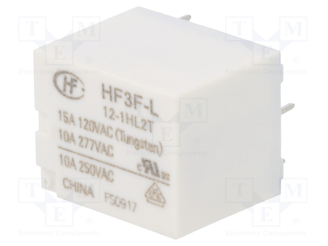 HF3F-L/12-1HL2T_Relay: electromagnetic; SPST-NO; Ucoil:12VDC; 10A/277VAC; 15A