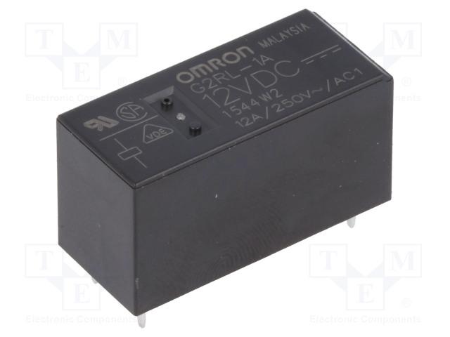 G2RL-1A 12VDC_Relay: electromagnetic; SPST-NO; Ucoil:12VDC; 12A/250VAC