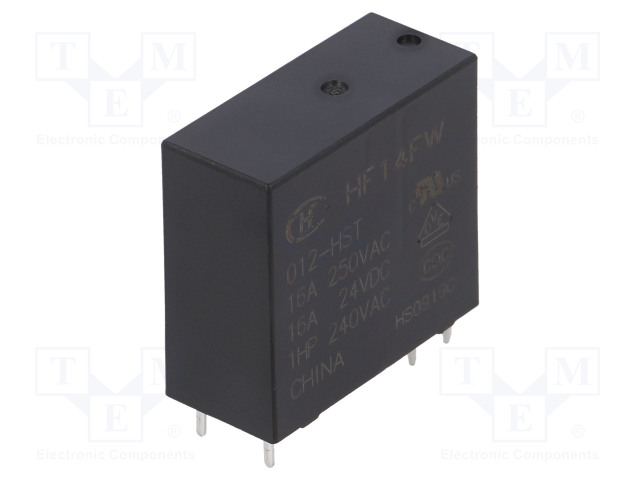 HF14FW/012-HST_Relay: electromagnetic; SPST-NO; Ucoil:12VDC; 16A/240VAC; 20A