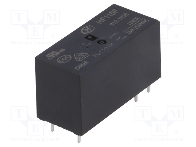 HF115F/012-1H3B_Relay: electromagnetic; SPST-NO; Ucoil:12VDC; 16A/250VAC; 16A