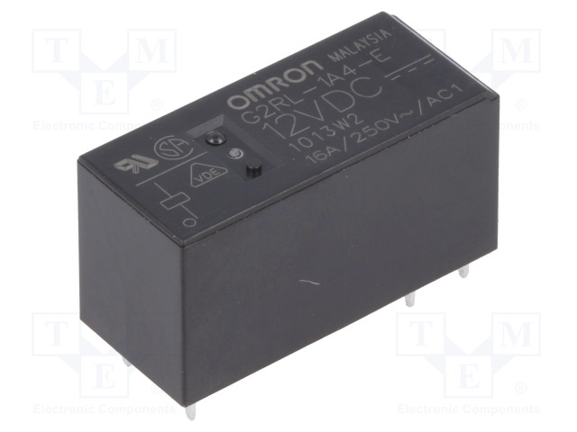 G2RL-1A4-E 12VDC_Relay: electromagnetic; SPST-NO; Ucoil:12VDC; 16A/250VAC