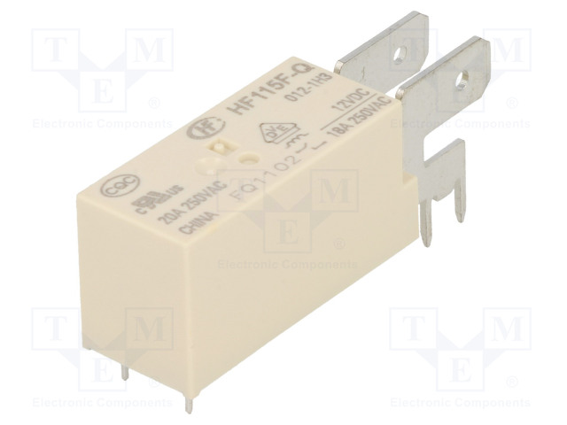HF115F-Q/012-1H3_Relay: electromagnetic; SPST-NO; Ucoil:12VDC; 20A/250VAC; 20A