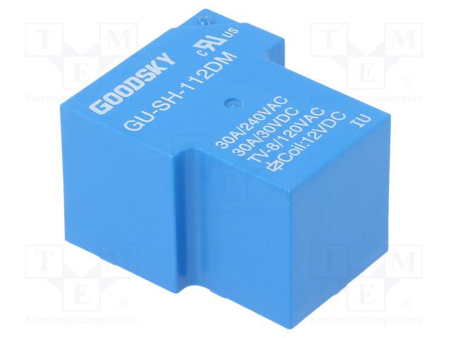 GU-SH-112DM_Relay: electromagnetic; SPST-NO; Ucoil:12VDC; 30A; Series: GU